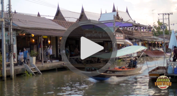 floating markets food tour Video